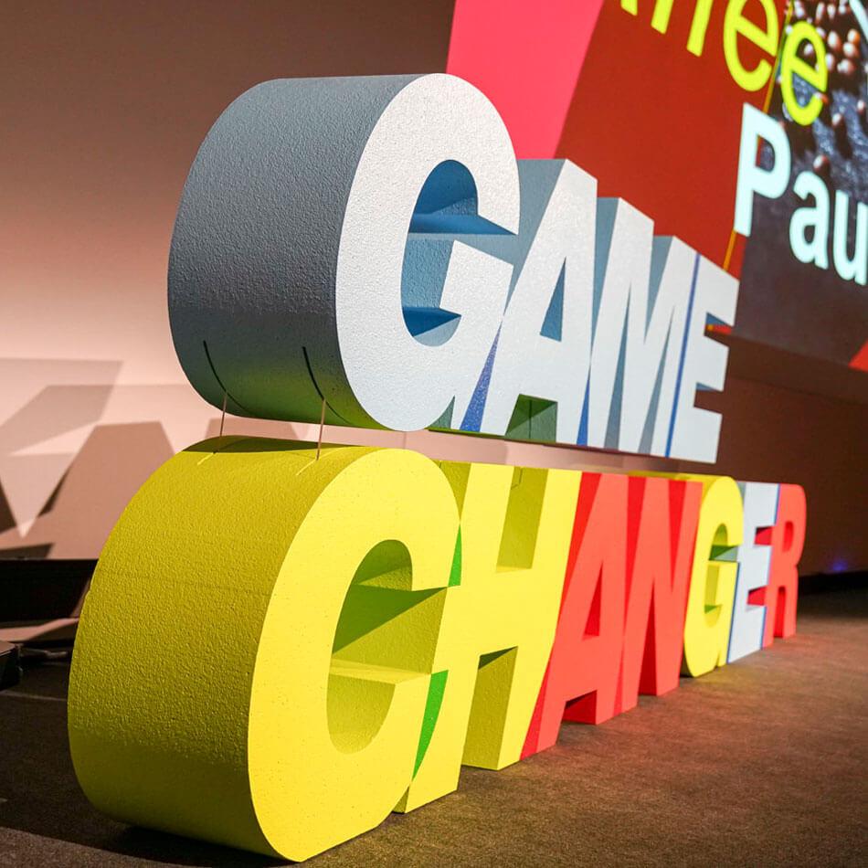 3D-Buchstaben als Event-Dekoration