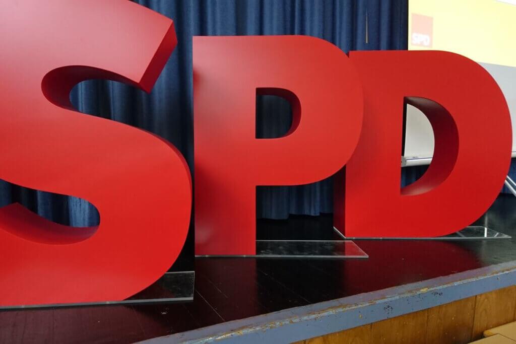 Große SPD-Buchstaben
