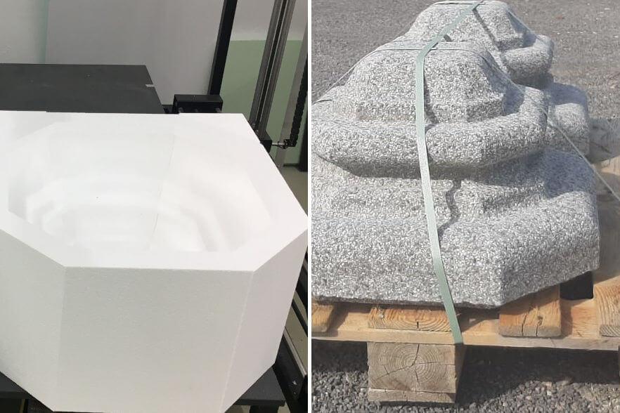 Beton-Giessformen für Pfeilerkrönung