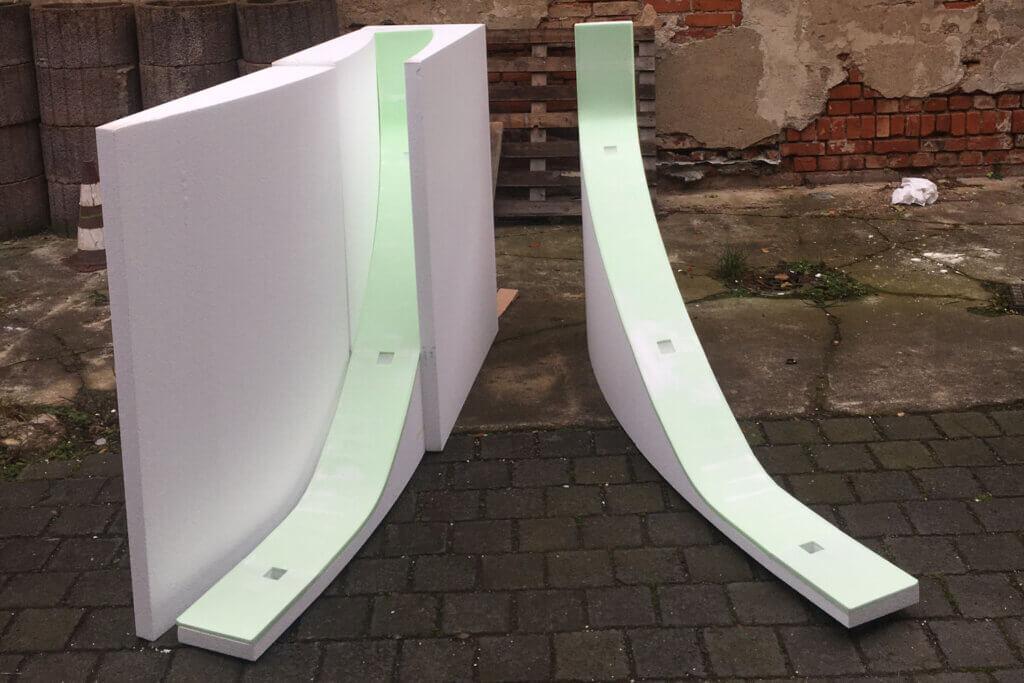 Betonform aus Styropor und Styrodur